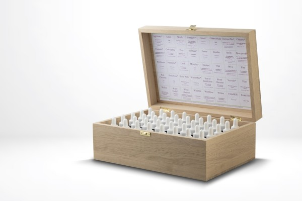 Dt. BachBlüten Stockbottle-Set 40/10 ml im Holzkoffer