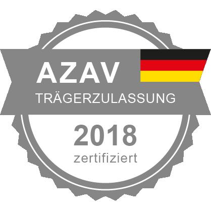 Sarah-Mergen_Zertifikat_AZAV_2018_100x100